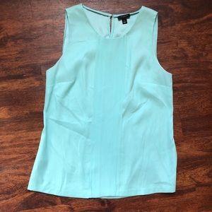 Mint green silk Ann Taylor blouse
